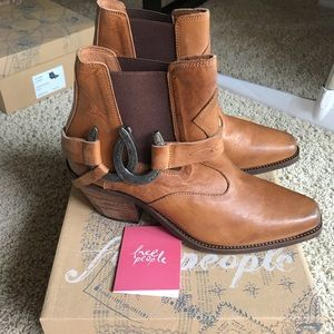 Free peopel. NWT lady luck ankle boots. size 38.